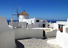 著名Santorini海岛在希腊 库存图片