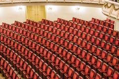 著名Semper歌剧的观众席在德累斯顿 免版税库存照片
