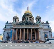 著名St以撒` s大教堂,圣彼德堡,俄罗斯 免版税库存图片