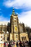 著名St Vitus大教堂布拉格,捷克 库存图片