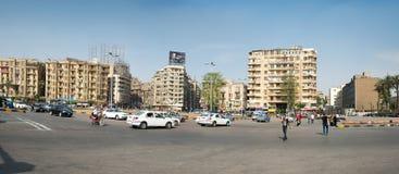 著名Tahrir广场在开罗 库存图片