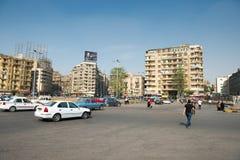 著名Tahrir广场在开罗 免版税图库摄影