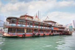 著名Tai朴浮动餐馆在香港 免版税库存照片