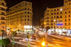 著名Talaat Harb广场在街市埃及 免版税图库摄影