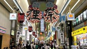 著名Tanukikoji购物街道 股票录像