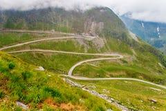 著名Transalpina路,喀尔巴汗,罗马尼亚 免版税库存照片