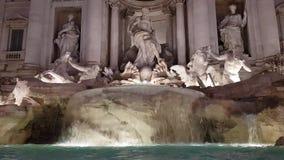 著名Trevi喷泉在罗马Fontana di Trevi 股票录像