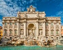 著名Trevi喷泉,罗马,意大利。 免版税库存照片