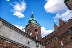 著名Wawel大教堂 克拉科夫波兰 免版税库存照片