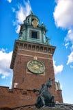 著名Wawel大教堂 克拉科夫波兰 免版税图库摄影