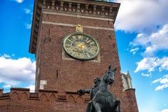 著名Wawel大教堂 克拉科夫波兰 免版税库存图片