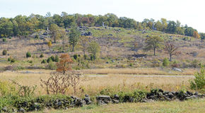 葛底斯堡全国军事公园,宾夕法尼亚 库存照片
