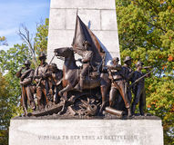 葛底斯堡全国军事公园,宾夕法尼亚 免版税库存照片