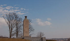 葛底斯堡,宾夕法尼亚和平轻的俯视的镇  库存图片