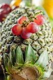 葡萄和菠萝 免版税库存照片
