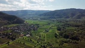 葡萄园天线在瓦豪,奥地利 股票录像