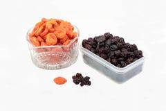 葡萄干和杏干。 免版税库存照片