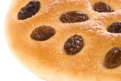 葡萄干小圆面包 库存照片