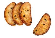 葡萄干面包干糖 免版税库存照片