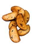 葡萄干面包干 库存图片