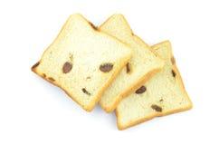 葡萄干面包 免版税库存照片