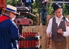 葡萄收获的节日在chusclan的 图库摄影