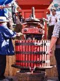 葡萄收获的节日在chusclan的 免版税库存照片