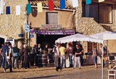 葡萄收获的节日在chusclan的 库存图片