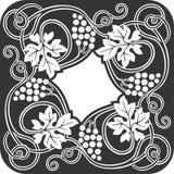 葡萄方形的艺术1 免版税库存图片