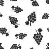葡萄果子有叶子无缝的样式背景 浓缩的事务 免版税库存图片