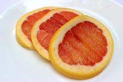 葡萄柚切片连续 库存例证