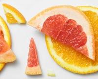 葡萄柚和橙色样式 免版税库存照片