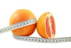 葡萄柚和米 库存照片