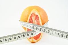 葡萄柚和米 库存图片