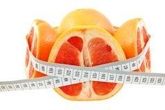 葡萄柚和米 免版税库存照片