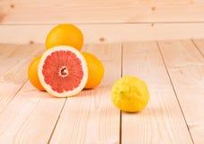 葡萄柚和lemont 免版税库存照片