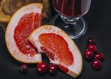 葡萄柚新片断  库存照片
