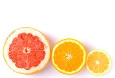 葡萄柚柠檬桔子 库存图片