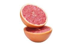 葡萄柚查出的白色 库存照片