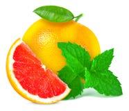 葡萄柚用薄菏 免版税图库摄影