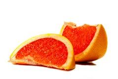 葡萄柚的部分 免版税图库摄影