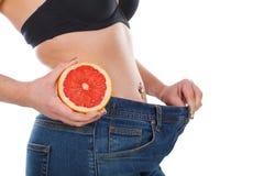 葡萄柚饮食 图库摄影