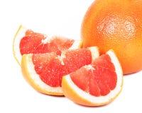 葡萄柚,白色背景 免版税图库摄影