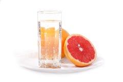 葡萄柚水多的红色 免版税库存图片