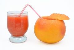 葡萄柚黏浆状物质  库存照片