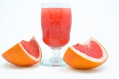 葡萄柚黏浆状物质  库存图片