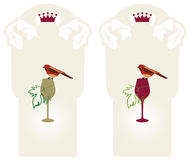 葡萄标记有机酒 图库摄影