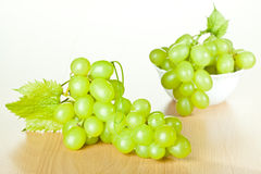 葡萄树和绿色葡萄 库存图片