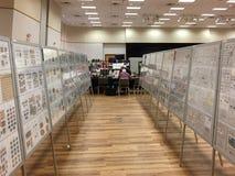 葡萄树第30张邮票每年陈列&证券交易所 图库摄影