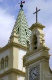葡萄牙亚速尔群岛Terceira巴洛克式的教会- Angra做Heroismo 免版税库存图片